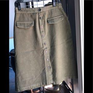 Zara Basic Z1975 Denim Jean Skirt Size Medium